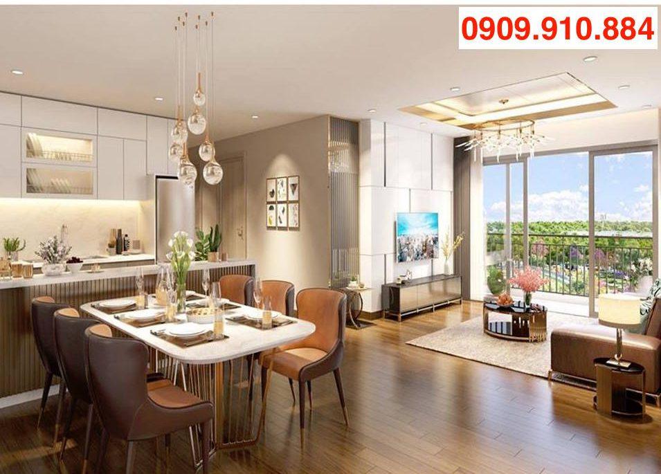 Thiết kế căn hộ Eco Green Saigon tinh tế, sang trọng.