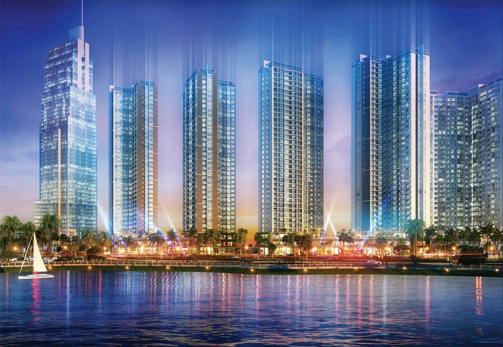 Khu đô thị Eco-Green Saigon nhìn từ xa.