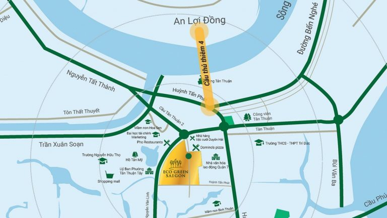 Vị trí giao thông huyết mạch của khu đô thị Eco-Green Saigon quận 7
