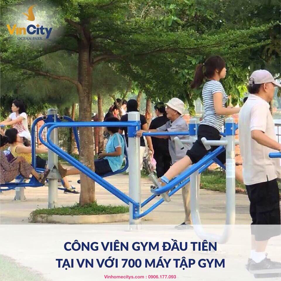 Công viên GYM tại Khu đô thị Vincity Ocean Park