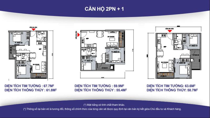 Thiết kế căn hộ VinCity 2N+1.