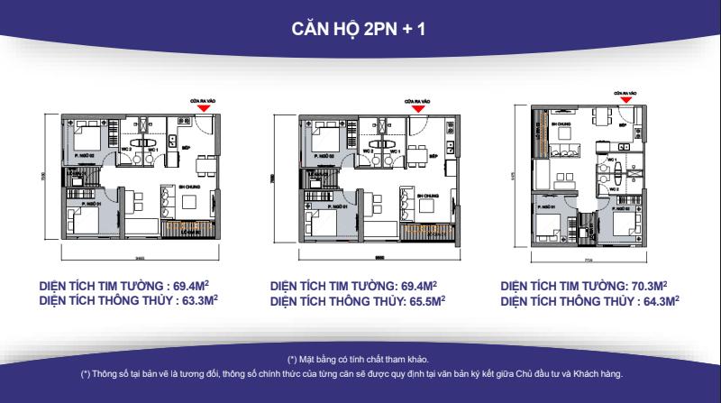 Thiết kế căn hộ VinCity 2PN+1