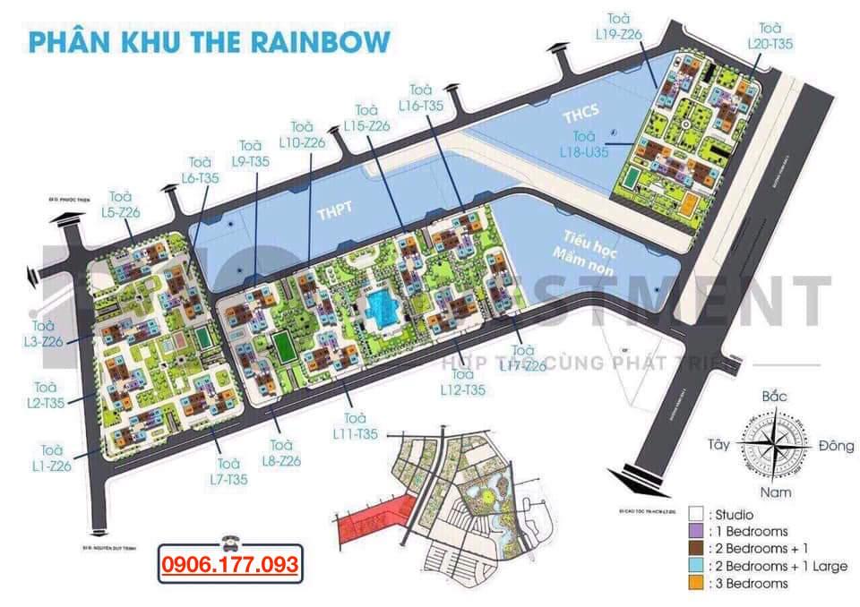 thiết kế the rainbow vinhomes quận 9