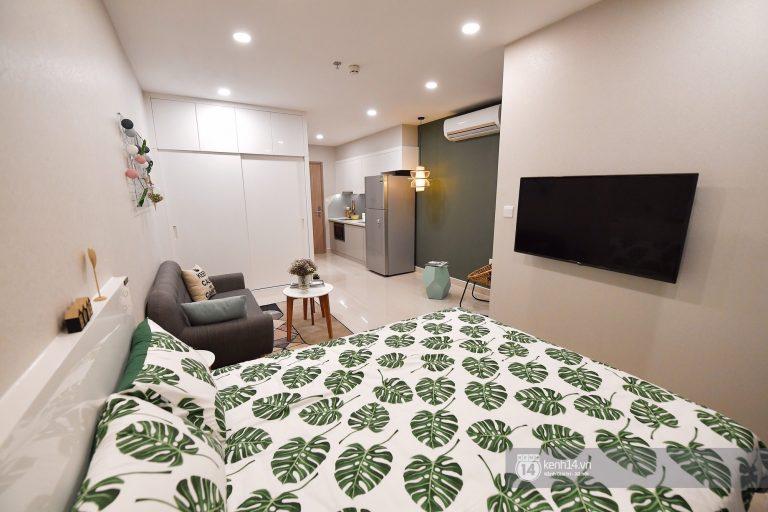 giường ngủ căn hộ studio của VinCity