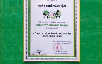 Khải Hoàn Land chính thức phân phối dự án VinCity Grand Park quận 9