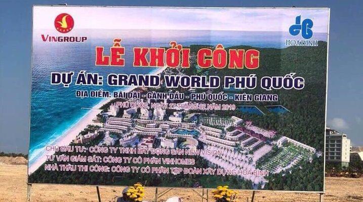 thi công dự án Grand World Phú Quốc