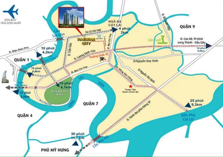 Vị trí dự án Raemian City An  Phú An Khánh