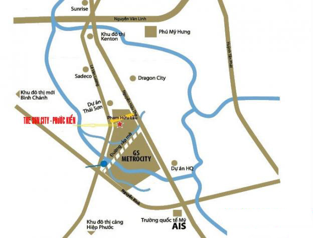 vị trí dự án G-City
