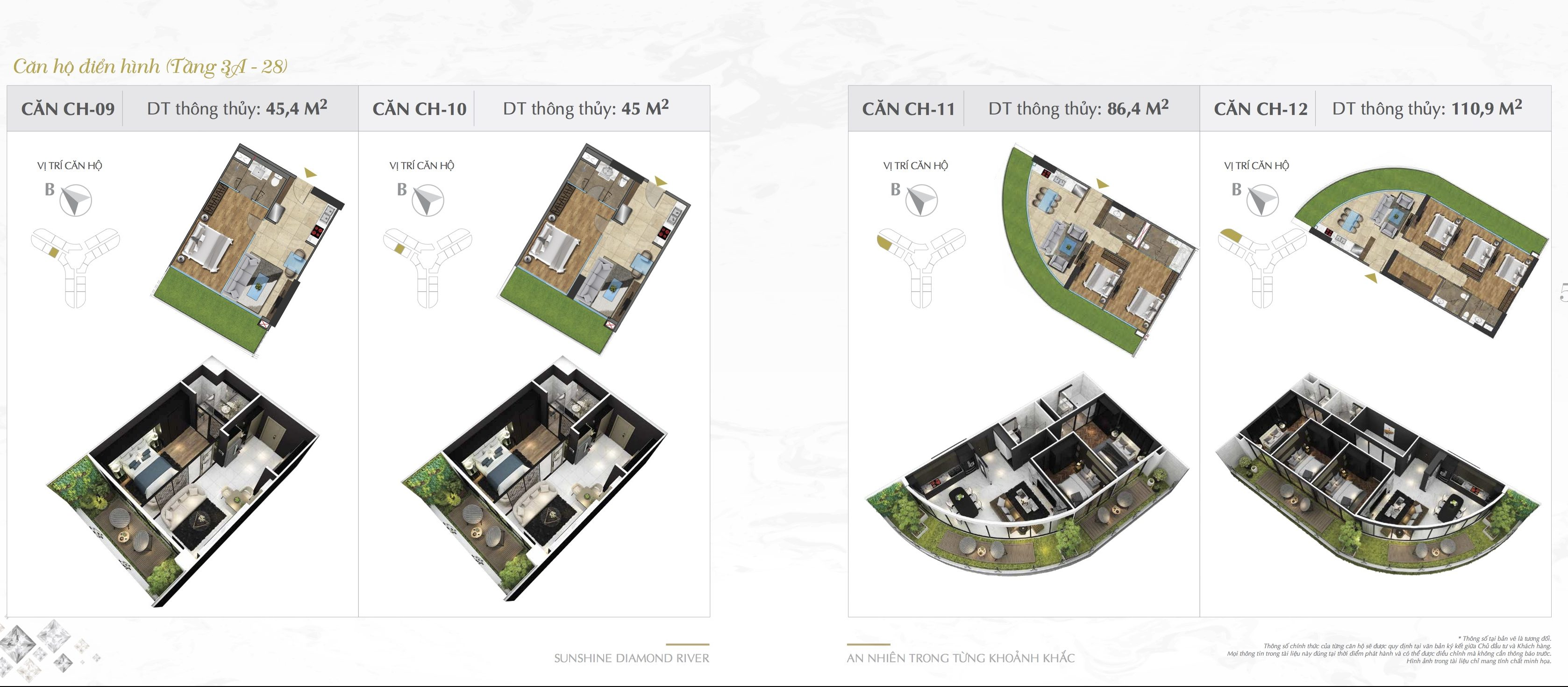 Thiết kế căn hộ Sunshine Diamond River 09-10-11-12