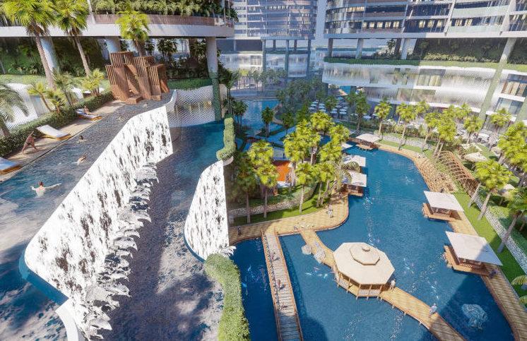 thác nước Homes Resort Sunshine Diamond River