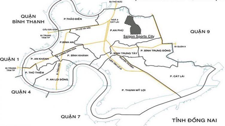 Vị trí Saigon Sports City