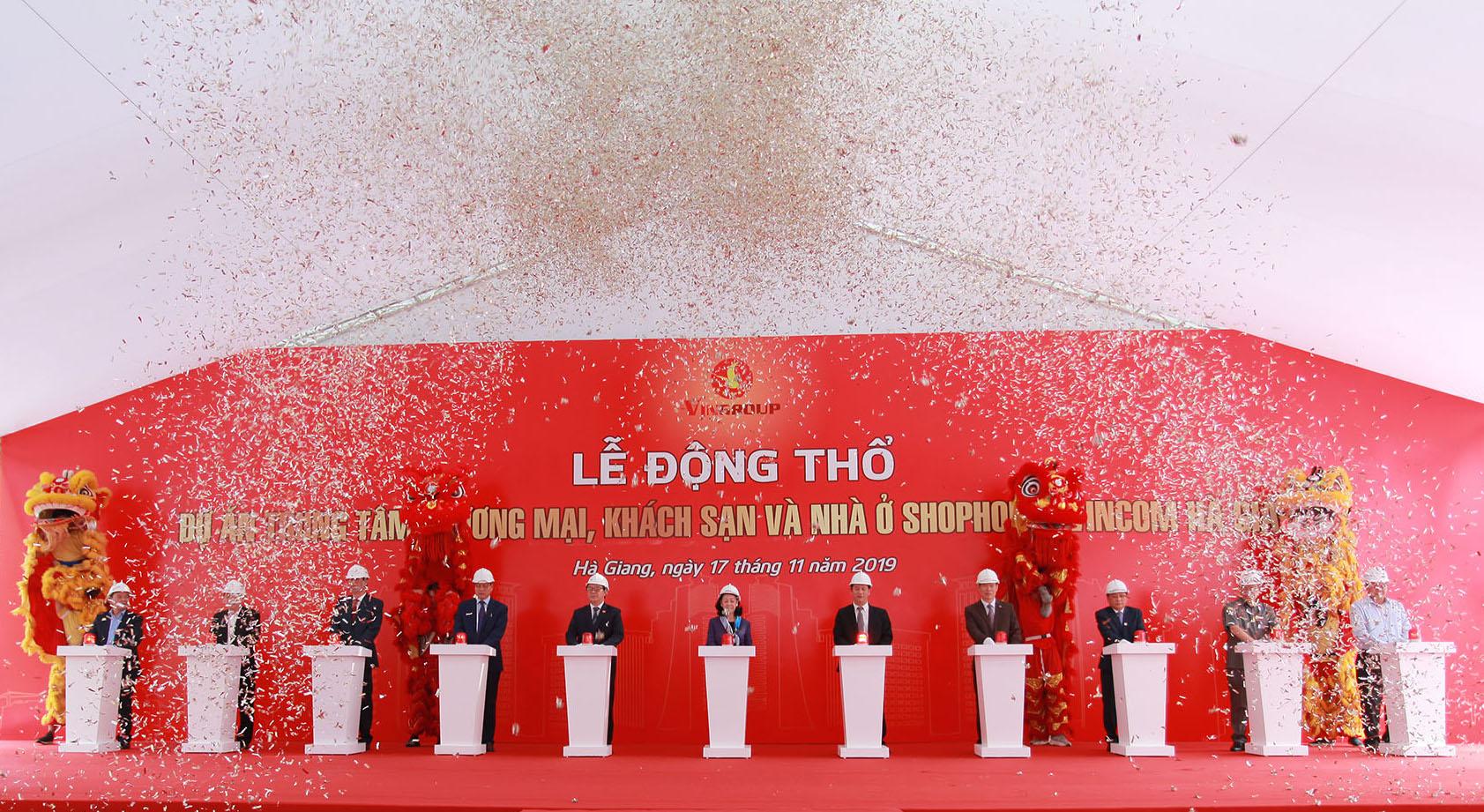 dự án TTTM khách sạn và nhà ở Shophouse Vincom Hà Giang