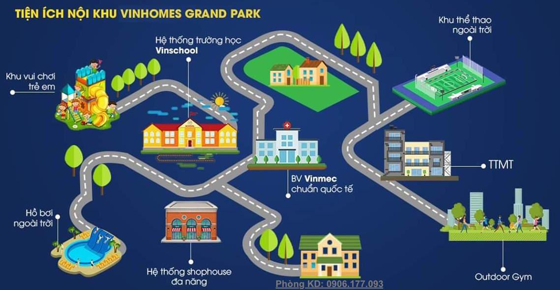 hệ thống tiện ích nội khu Vinhomes Grand Park Quận 9