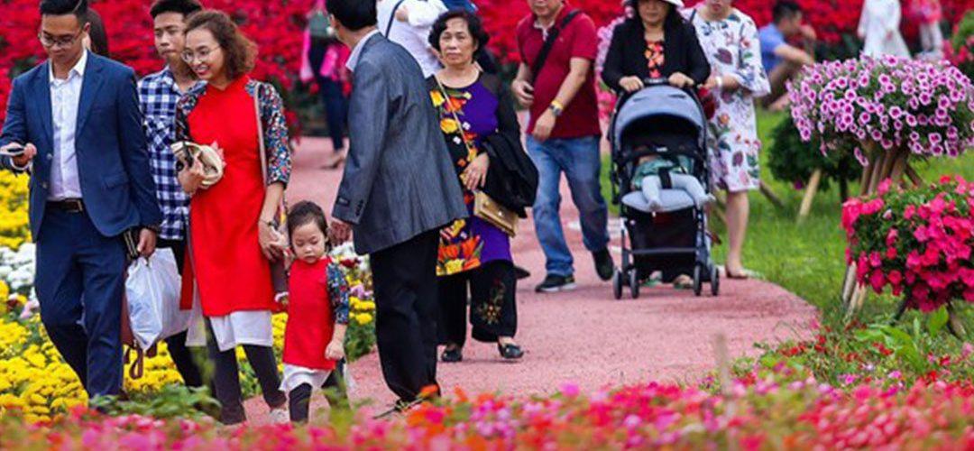 Hội hoa Xuân Vinhomes Grand Park
