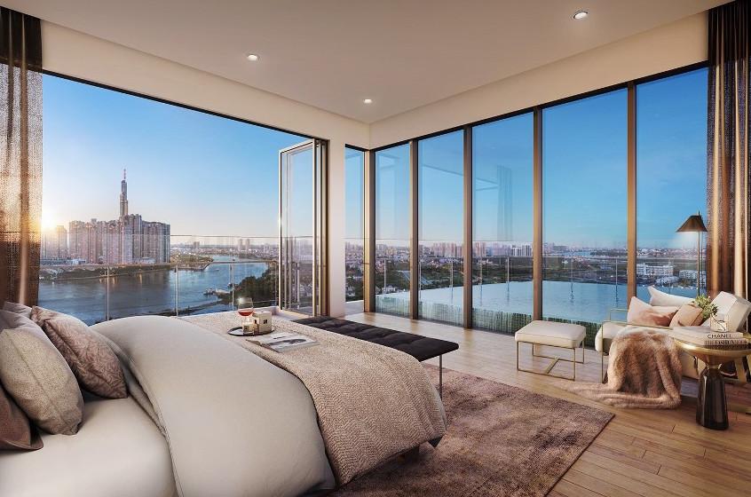 phòng ngủ căn hộ The River