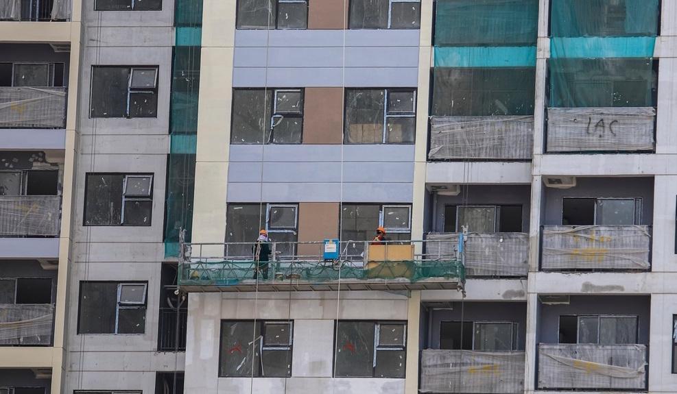 tòa căn hộ the rainbow đang hoàn thiện