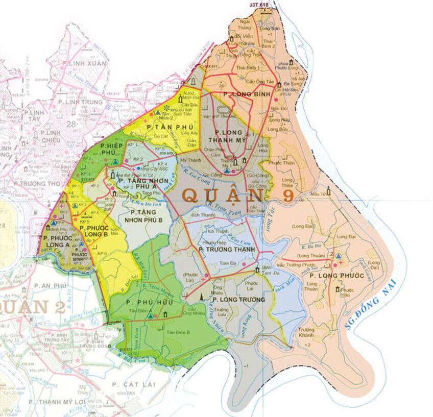 Bản đồ quy hoạch quận 9 TPHCM