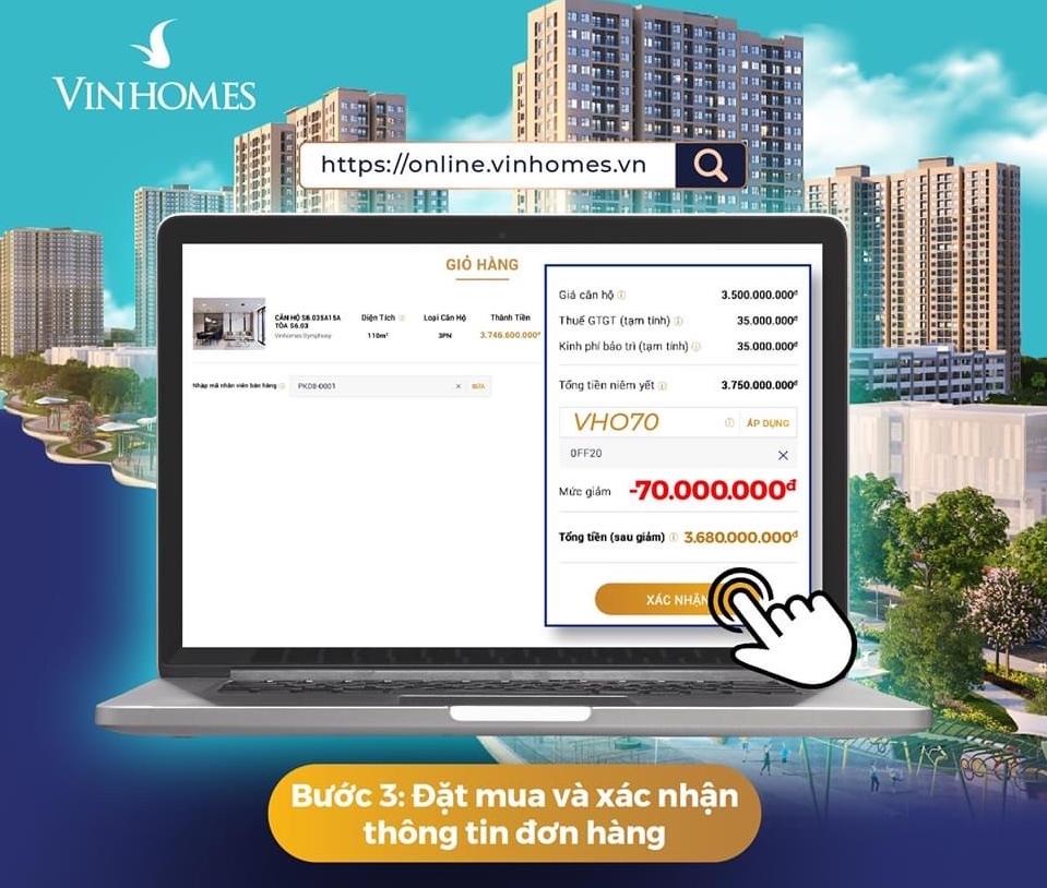 mua căn hộ vinhomes online