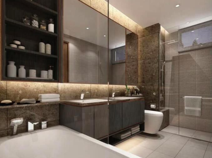 phòng tắm - nhà vệ sinh căn hộ The River Thủ Thiêm