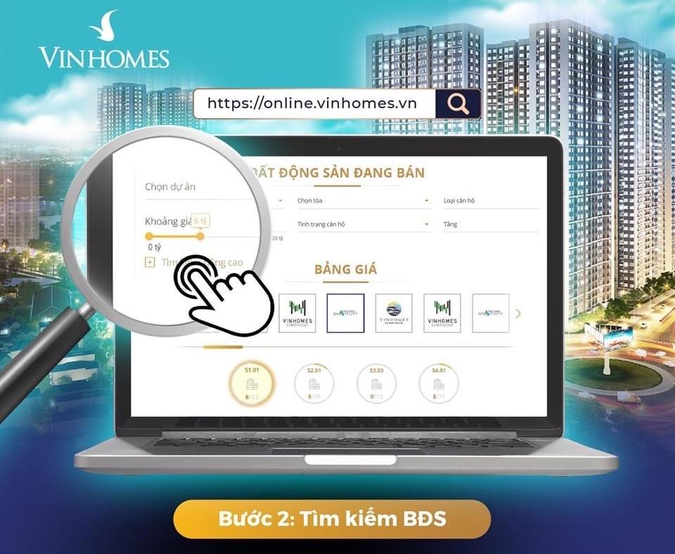 Mua nhà Vinhomes Online