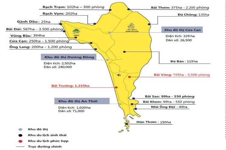 quy hoạch sử dụng đất đảo Phú Quốc