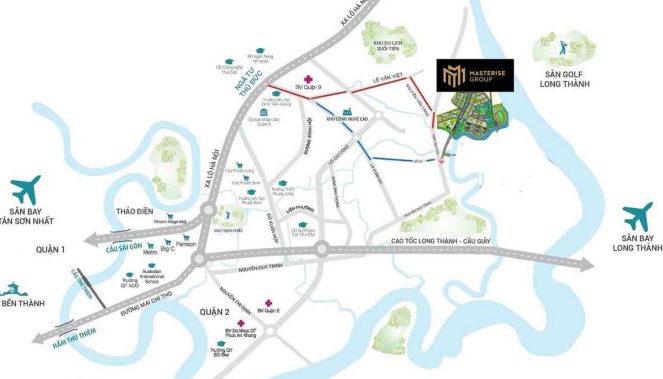Vị trí dự án Masteri Grand Park Quận 9