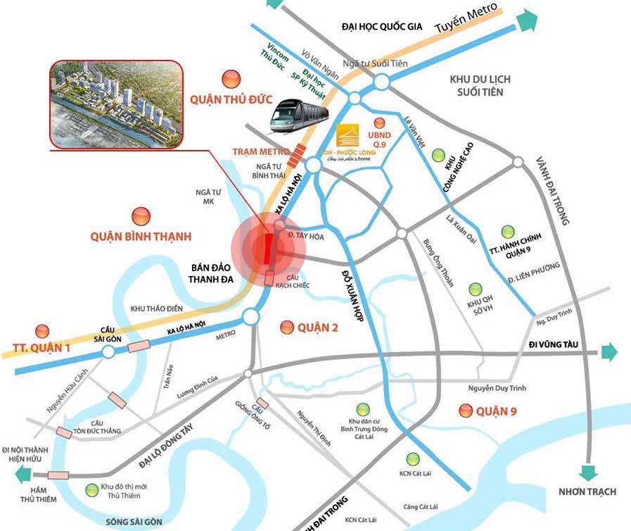Vị trí dự án River City Trường Thọ, Thủ Đức