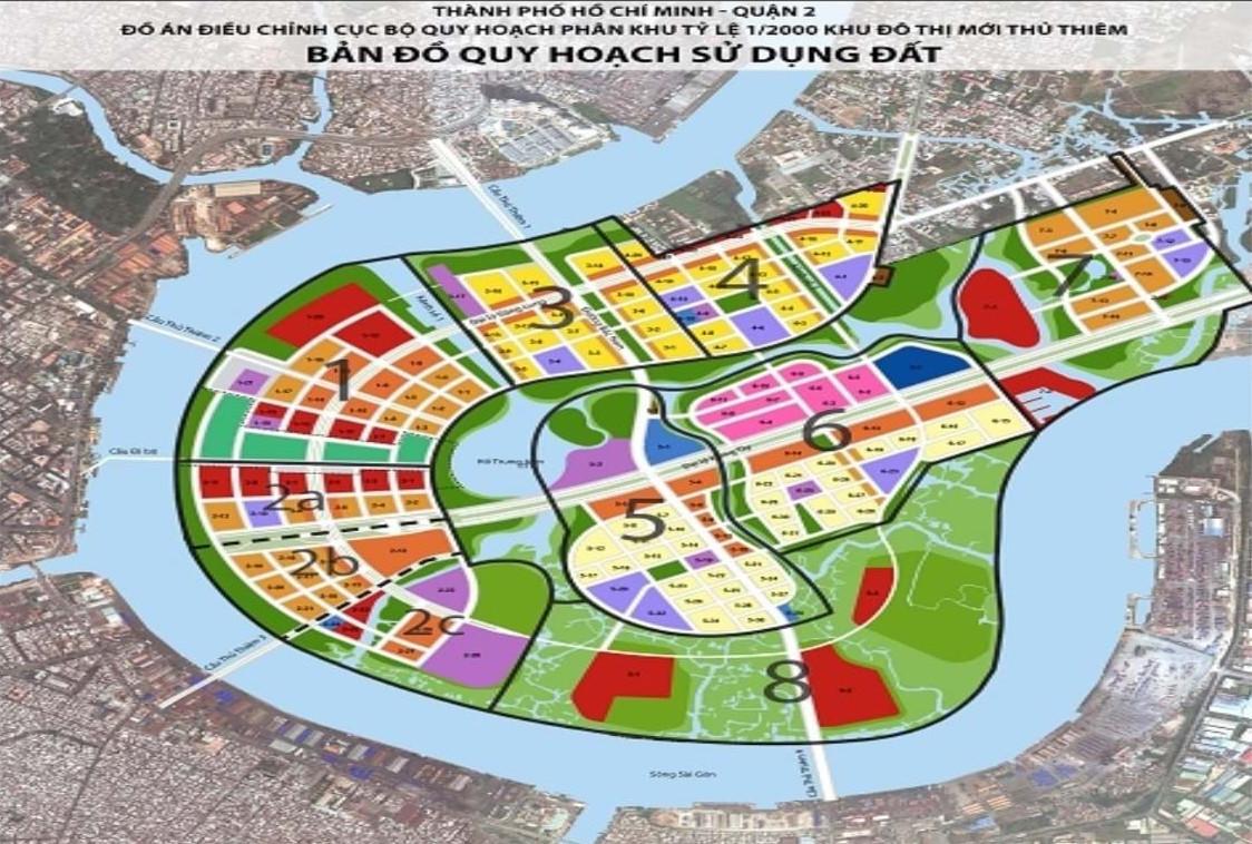 bản đồ Thủ Thiêm