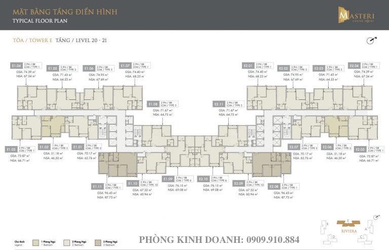 Tài liệu bán hàng mặt bằng tầng căn hộ Masteri Centre Point Quận 9