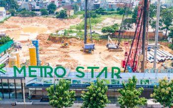 bên ngoài dự án Metro Star