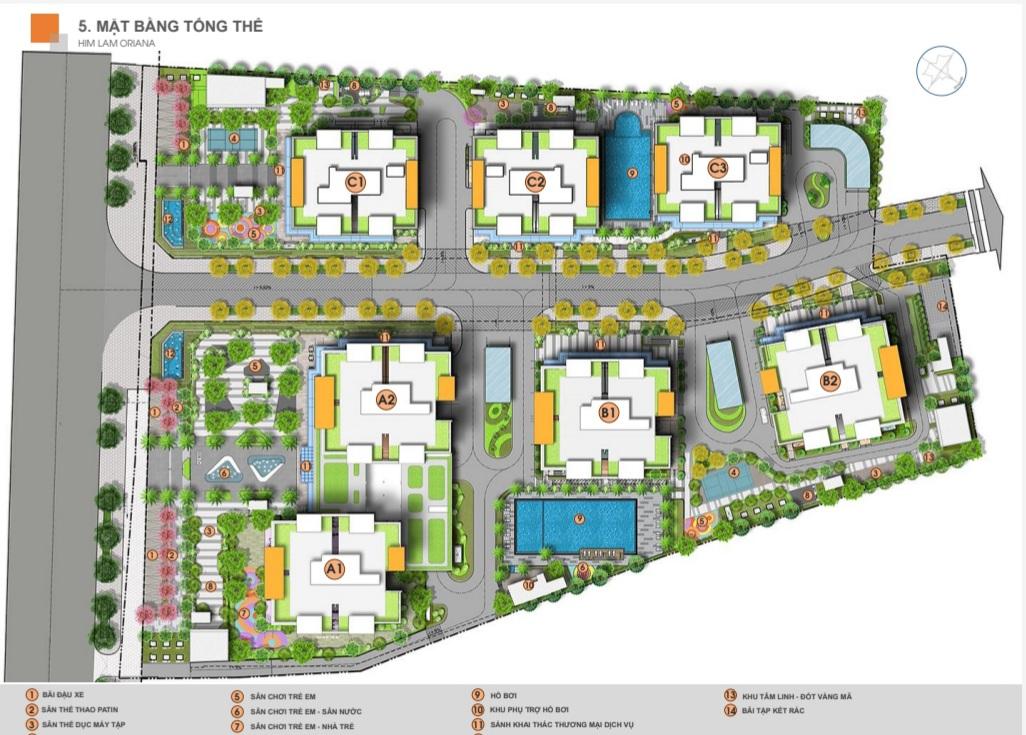 Mặt bằng tổng thể dự án căn hộ V-CitiLight Biên Hòa