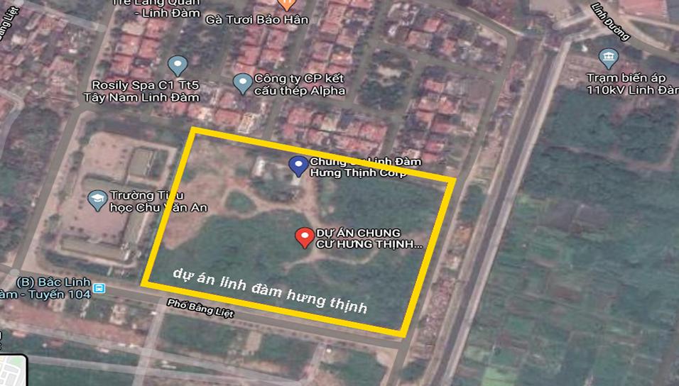 Khu đất dự án Hưng Thịnh Lakeside Linh Đàm - Hà Nội