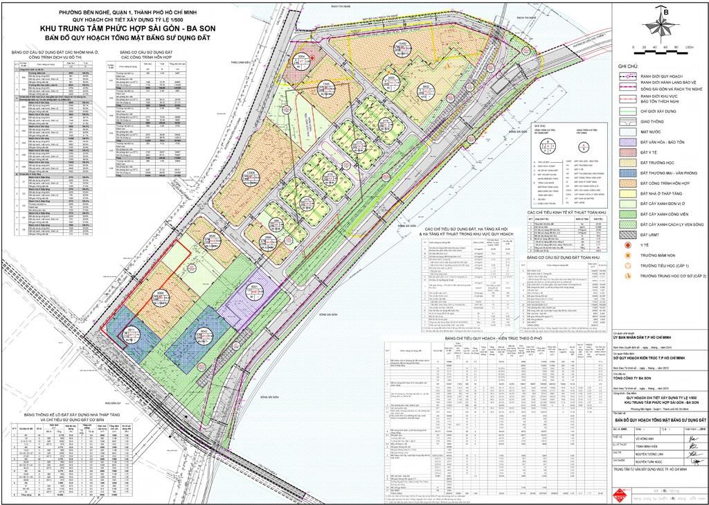 quy hoạch khu phức hợp Saigon Bason