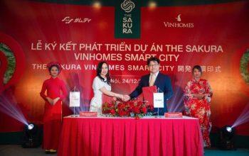 Vinhomes hợp tác tập đoàn Samty (Nhật) phát triển dự án The Sakura