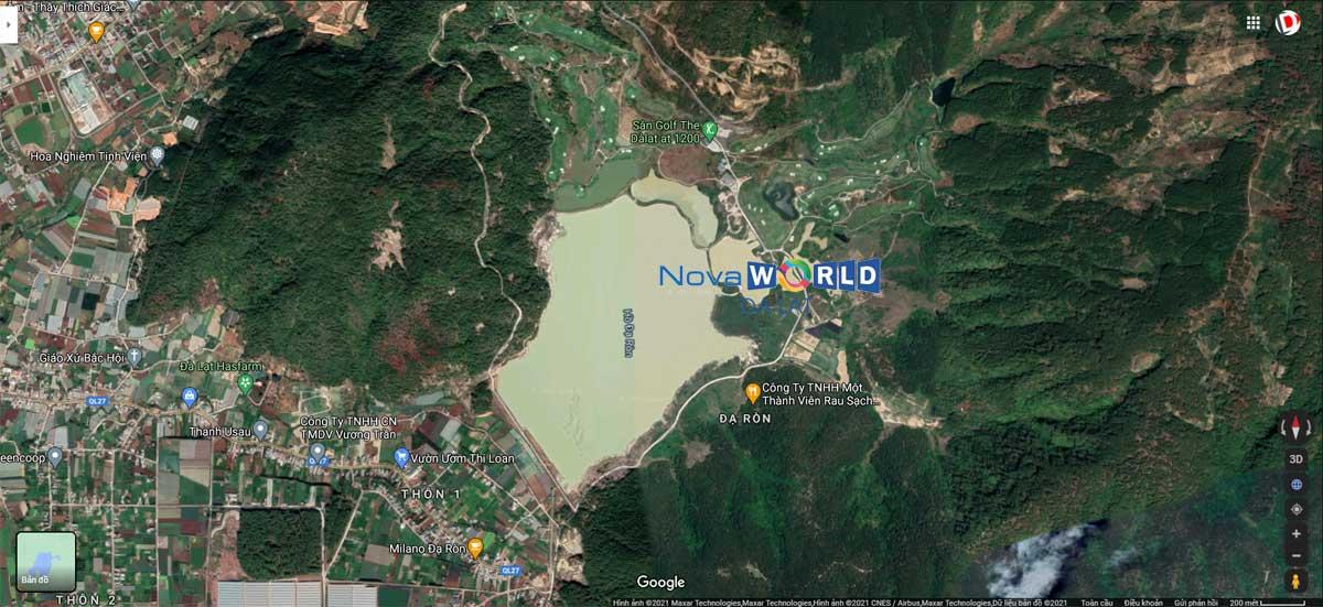 Vị trí NovaWorld Lâm Đồng