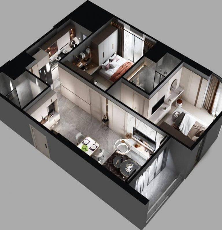 3D căn hộ The Beverly