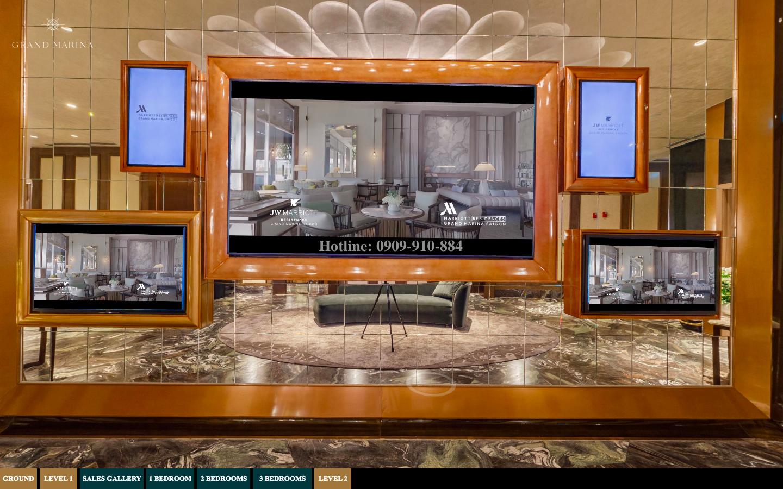 Xem căn hộ Grand Marina Saigon qua công nghệ thực tế ảo 360